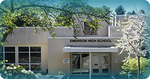 Entrance to Emerson High School